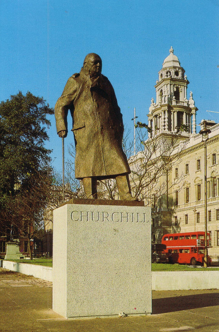 The Churchill Statue, Parliament Square, London