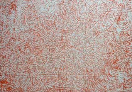 Mark Tobey - Mandarin and Flowers 1973