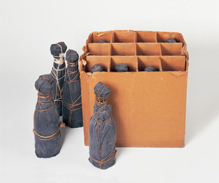 Wrapped Champagne Bottles 1965