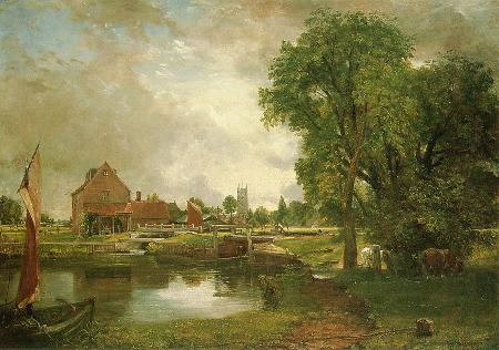 Dedham Lock and Mill, c. 1820