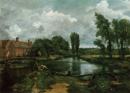 Flatford Lock and Mill, 1812