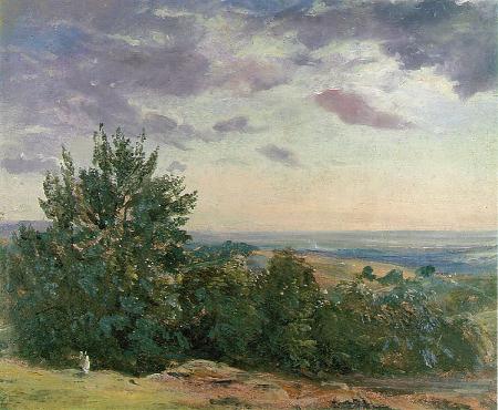 Hampstead Heath, Looking Towards Harrow, 1821