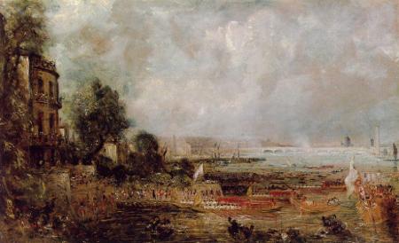 The Opening of Waterloo Bridge, 1829