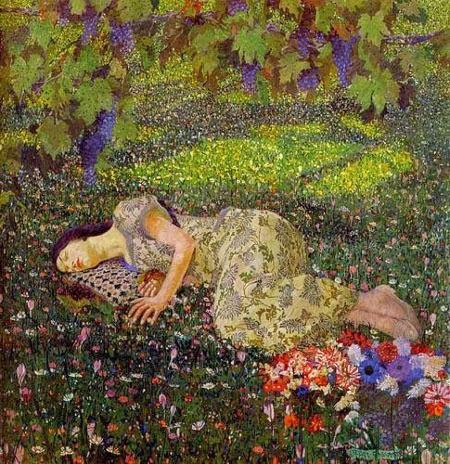 Felice Casorati, Dreaming of Pomegranates, 1913