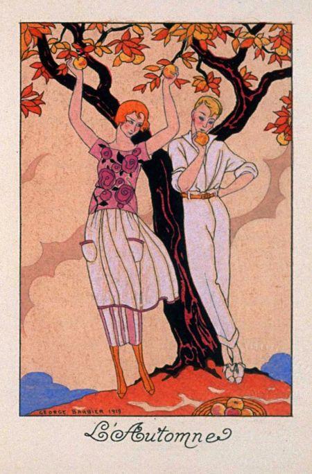 Georges Barbier, l'Automne, 1919