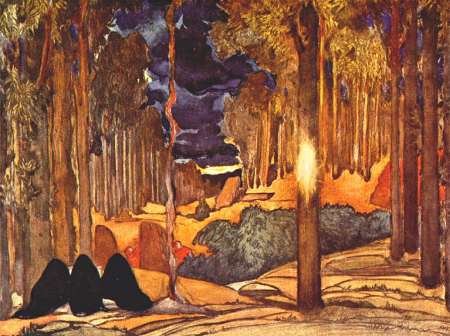 Leon Bakst, Scenery for Act IV