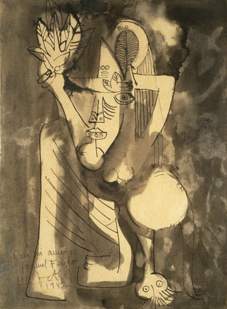 Wifredo Lam - Untitled Drawing - 1942
