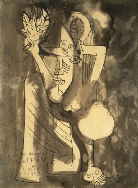 Wifredo Lam - Untitled Drawing - 1942