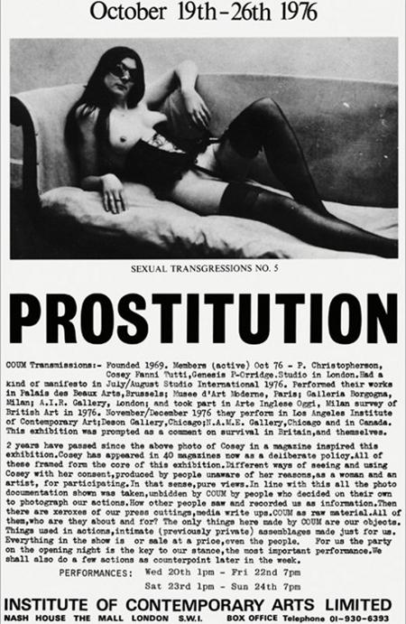 Cosey Fanni Tutti, Prostitution Poster, 1976