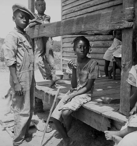 Dorothea Lange, Mississippi Delta Negro Children, 1936