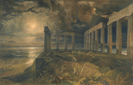 The Temple of Poseidon at Sunium, c. 1834
