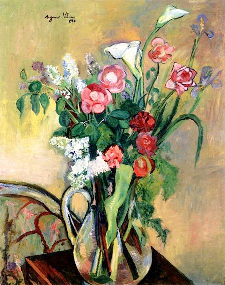 Bouquet de fleurs dans un vase de cristal, 1928