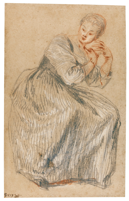 A Seated Lady, c. 1717