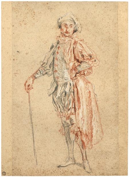 Étude d'un acteur dans le costume de Mezzetin, c. 1717