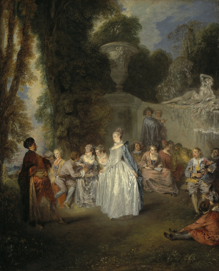 Fêtes Venitiennes, c. 1718, Scottish NG