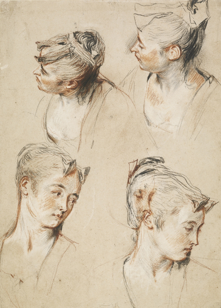 Five Studies of a Woman's Head, c. 1716