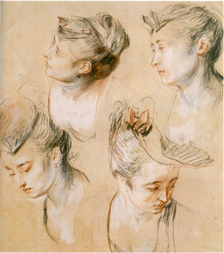 Four Studies of a Woman's Head