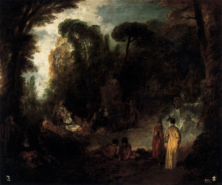 Gathering in a Parc, c. 1712, Prado