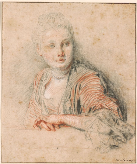 Head and Bust of Seated Woman