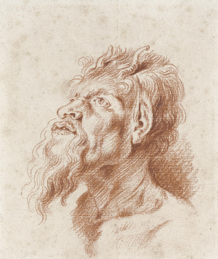 Head of a Satyr after Rubens, c. 1714