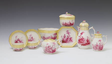 KPM Porcelain, designs after Watteau, c. 1765