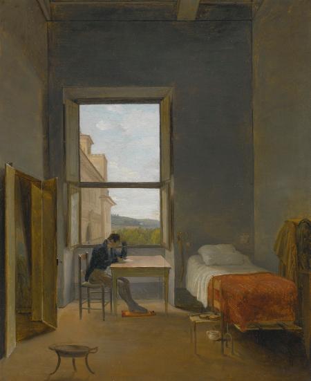 L'artiste dans sa chambre à la Villa Médicis à Rome