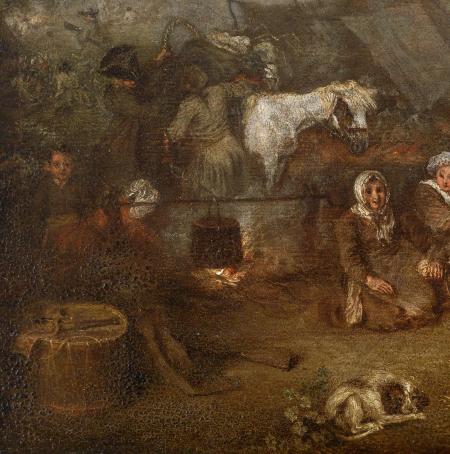 L'Escorte d'équipage, c. 1715 (detail)