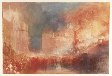 The Burning of the Houses of Lords and Commons, 1834 (Tate)