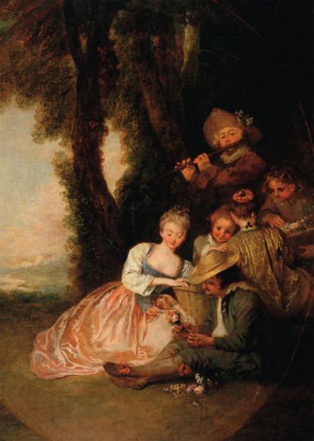 Antoine Watteau, La déclaration attendue, c. 1720, Angers Musée des Beaux-Arts