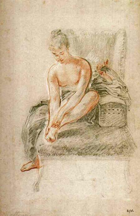 Femme demi-nue vue de face, British Museum