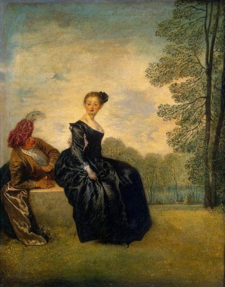 La boudeuse, c. 1718, Hermitage