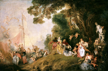 L'Embarquement pour Cythere, c. 1718, Berlin