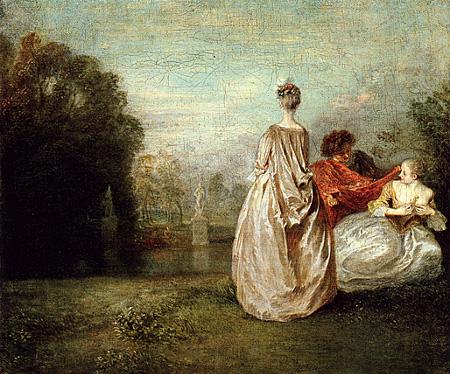 Les deux cousines, c. 1716, Louvre