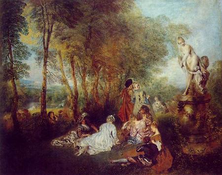 Plaisirs d'amour, c. 1719, Gemaldegalerie, Dresden