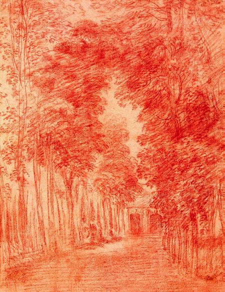 Une allée d'arbres, c. 1715, Hermitage