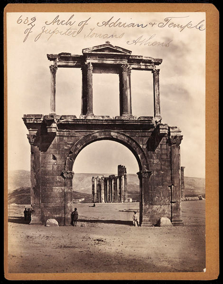 F. Frith & Co., Arch of Hadrian, c. 1850s-1870s, V&A