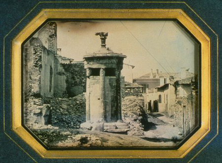 Jean-Baptiste-Louis Gros, Monument of Lysicrates, Athens, May 1850, Geo. Eastman Mus.