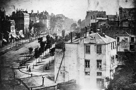 Louis Daguerre, Boulevard du Temple, c.1838-39a