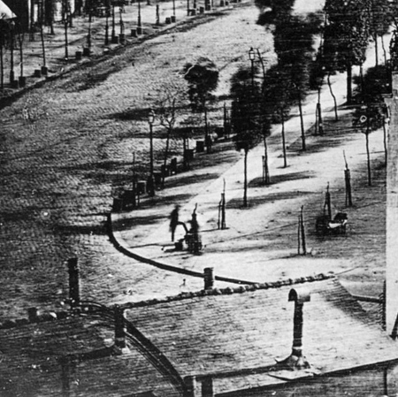 Louis Daguerre, Boulevard du Temple, c.1838-39b