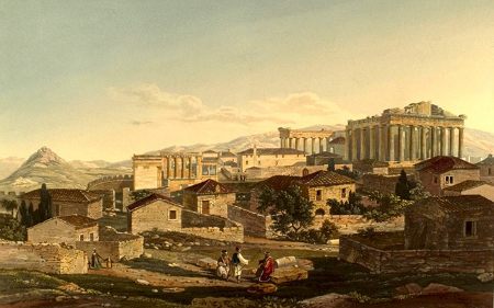 Edward Dodwell, Front View of the Parthenon, 1821