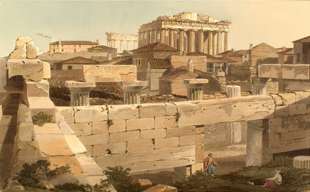Edward Dodwell, Parthenon from the Propylea
