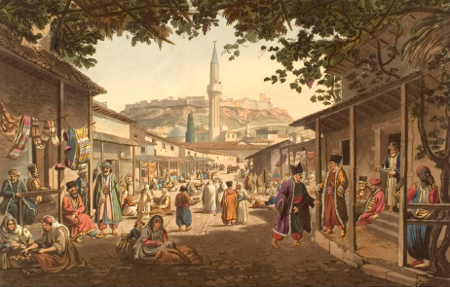 Edward Dodwell, The Bazar of Athens, Views in Greece, London 1821