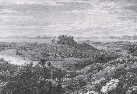 Franz Heger, View of Athens, 1829