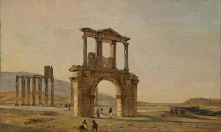 Ippolito Caffi, Arco di Adriano, 1844
