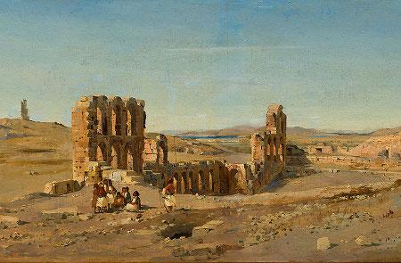 Ippolito Caffi, Atene – Teatro di Erode Attico, 1843, Venice