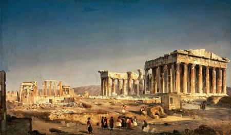 Ippolito Caffi, Il Partenone, c. 1843, Venice