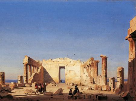 Ippolito Caffi, Interno del Partenone, 1843