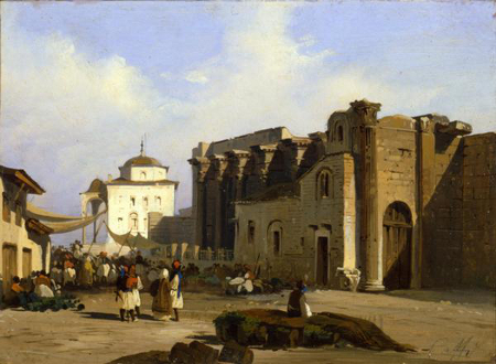 Ippolito Caffi, Stoa di Adriano, 1844