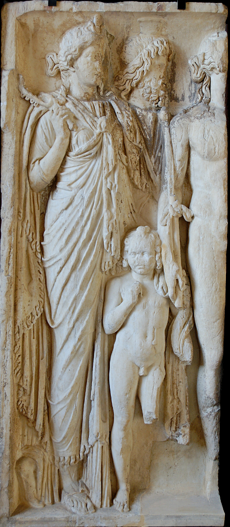 Isis_Sarapis_Harpocrates_Dionysos_Louvre_Ma3128