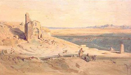 Ludwig Lange, Blick von Sikyon auf Korinth, 1835-36